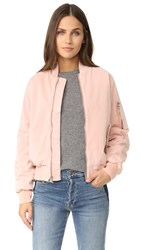 Hudson Gene Puffy Bomber Sunkissed Pink Destructed