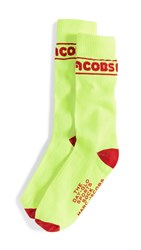 Marc Jacobs The Day Glo Sports Socks Yellow Multi