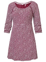 Fat Face Fernhurst Ditsy Tunic Top Garnet