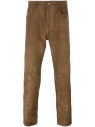 Golden Goose Deluxe Brand Suede Trousers Brown
