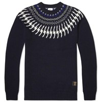 Bedwin And The Heartbreakers Danny Nordic Knit Sweater Navy