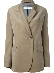 Golden Goose Deluxe Brand Corduroy Blazer Nude And Neutrals