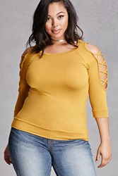 Forever 21 Plus Size Ladder Cutout Top