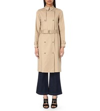 Whistles Classic Stretch Cotton Trench Coat Tan