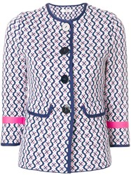 Charlott Button Printed Jacket Multicolour