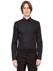 Givenchy Embroidered Collar Cotton Poplin Shirt