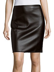 Max Studio Solid Embossed Skirt Black