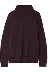 Atm Anthony Thomas Melillo Cashmere Turtleneck Sweater Burgundy