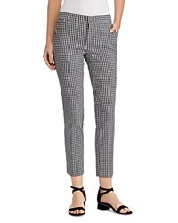 Ralph Lauren Gingham Skinny Cropped Pants Black White