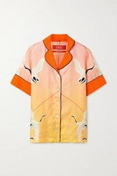 F.R.S For Restless Sleepers Bendis Printed Silk Twill Shirt Pastel Pink