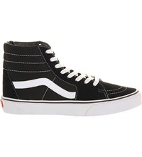 Vans Sk8 High Top Trainers Black White Canvas