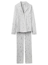 Joules Snow Print Pyjama Set Grey