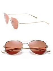 Oliver Peoples The Row The Row For Oliver Peoples Executive Suite 53Mm Titanium Aviator Sunglasses Orange