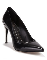 Dolce Vita Karisse Leather Embossed Heel Pumps Black