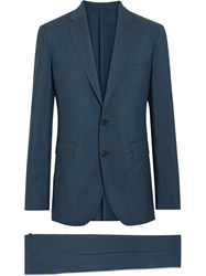 Burberry Soho Fit Wool Mohair Suit Blue