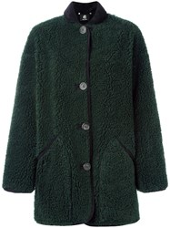 Paul Smith Black Label Buttoned Coat Green