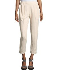 Brunello Cucinelli Silk Blend Slouchy Pull On Pants Light Pink