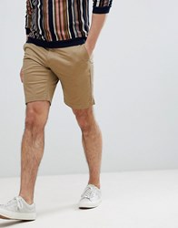 Only And Sons Chino Shorts In Beige Lead Grey Tan