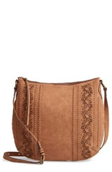 Elle And Jae Gypset Palomina Faux Leather Crossbody Hobo Brown Cedar
