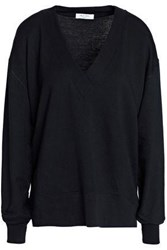 Rag And Bone French Modal Blend Terry Top Black