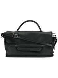 Zanellato Fold Over Closure Crossbody Bag Black