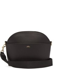 A.P.C. Gabrielle Leather Cross Body Bag Black