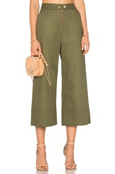 Alexander Wang Crop Pant Green