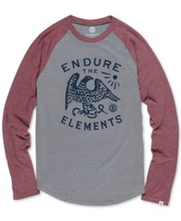 Element Men's Raglan Cotton T Shirt Grey