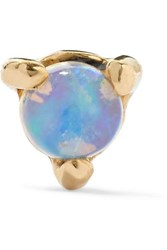 Wwake Gold Opal Earring Blue