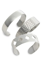 Topshop Women's 3 Pack Toe Rings Silver