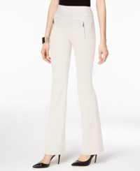 Inc International Concepts Curvy Fit Bootcut Pants Only At Macy's Toad Beige