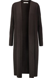 Halston Heritage Wool Cardigan Dark Brown
