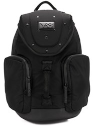 Y 3 Armor Backpack Unisex Leather Polyester Black