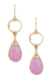 Janna Conner Aurelie Opalite And Lavender Jade Drop Earrings No Color
