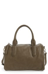 Sole Society Faux Leather Satchel Green Olive