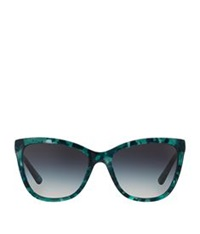 Dolce And Gabbana Butterfly Lip Gloss Sunglasses Green