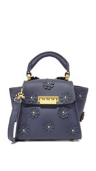 Zac Posen Eartha Iconic Floral Mini Bag Blu