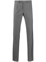 Dell'oglio Slim Fit Tailored Trousers Grey