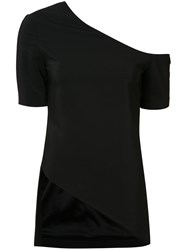 Rosetta Getty Cold Shoulder T Shirt Black