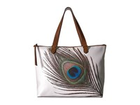 Elliott Lucca Aria Large Tote White Peacock Tote Handbags Multi
