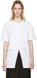 Hood By Air White Jersey Sari T Shirt