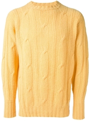 Drumohr Vintage Cable Knit Jumper Yellow And Orange