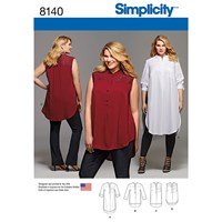 Simplicity Women's Plus Size Shirts Sewing Pattern 8140