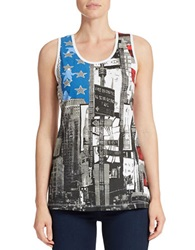 William Rast Lips Graphic Tank Top White