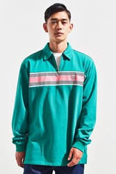 Lazy Oaf Green With Jealousy Zip Rugby Shirt