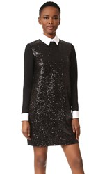 Victoria Beckham Long Sleeve Shift Dress Black
