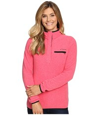 Columbia Mountain Side Pullover Punch Pink Heather Women's Long Sleeve Pullover