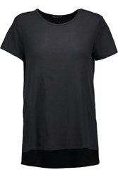 Theory Medea Ribbed Stretch Jersey T Shirt Black