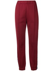 Alexander Wang T By Logo Track Pants Red