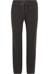 James Perse Genie Cotton Terry Track Pants Dark Gray